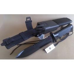 SURVIVAL KNIFE AITOR COMMANDO, BLADE CHROMED IN BLACK