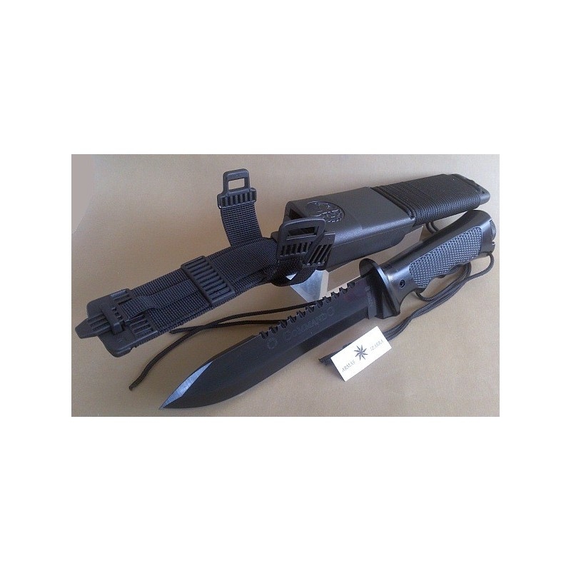 """TACTICAL BOOT KNIFE AITOR """"BOTERO"""", BLADE CHROMED IN BLACK"""