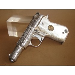 "(WEAPON SOLD)ENGRAVED SEMIAUTOMATIC PISTOL,ENGRAVED ""ASTRA 4000"""